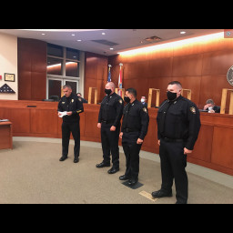 New officers introduced