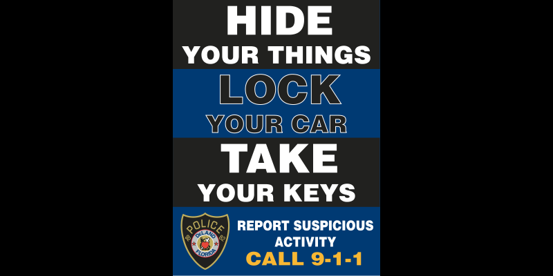 Image for Please Lock Your Vehicles